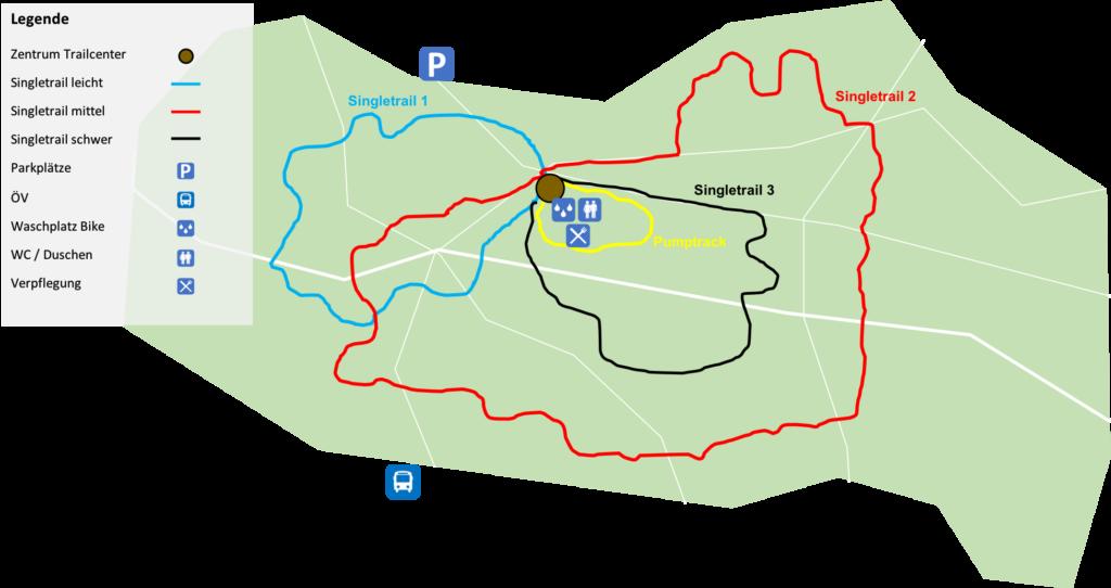 Trailcenter Beispiel im Wald