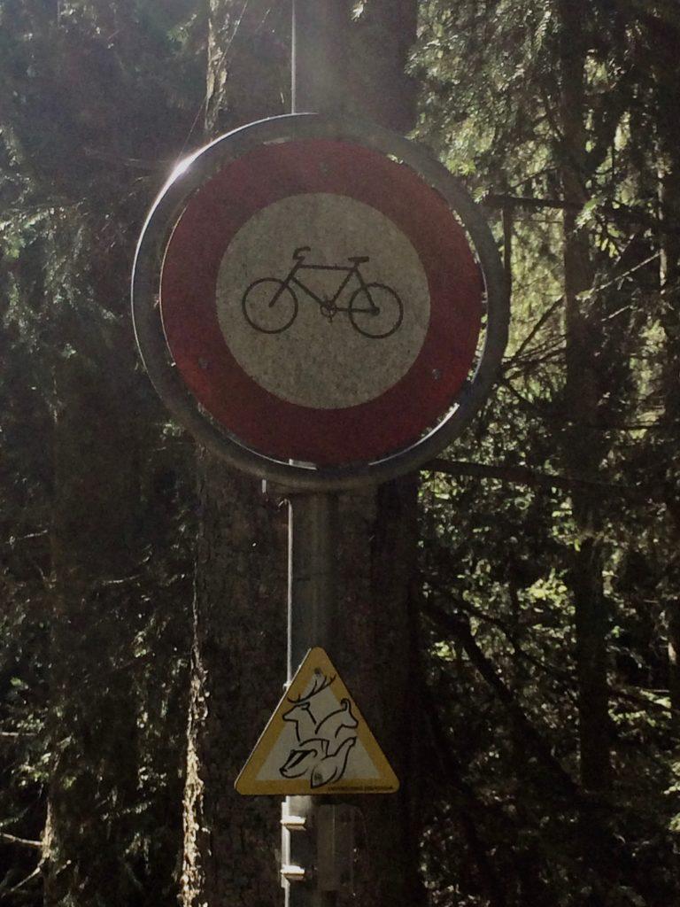 Fahrverbot für Mountainbiker
